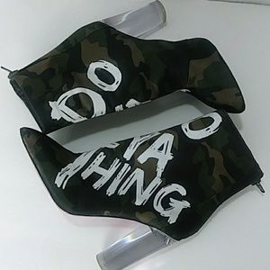 Aldo Heels Army Booties ( Do Ya Thing ) Size: 5